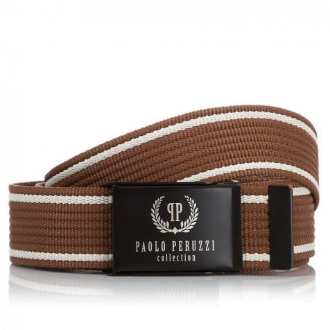 BRĄZOWY PASEK MĘSKI PAOLO PERUZZI PW-08-PP